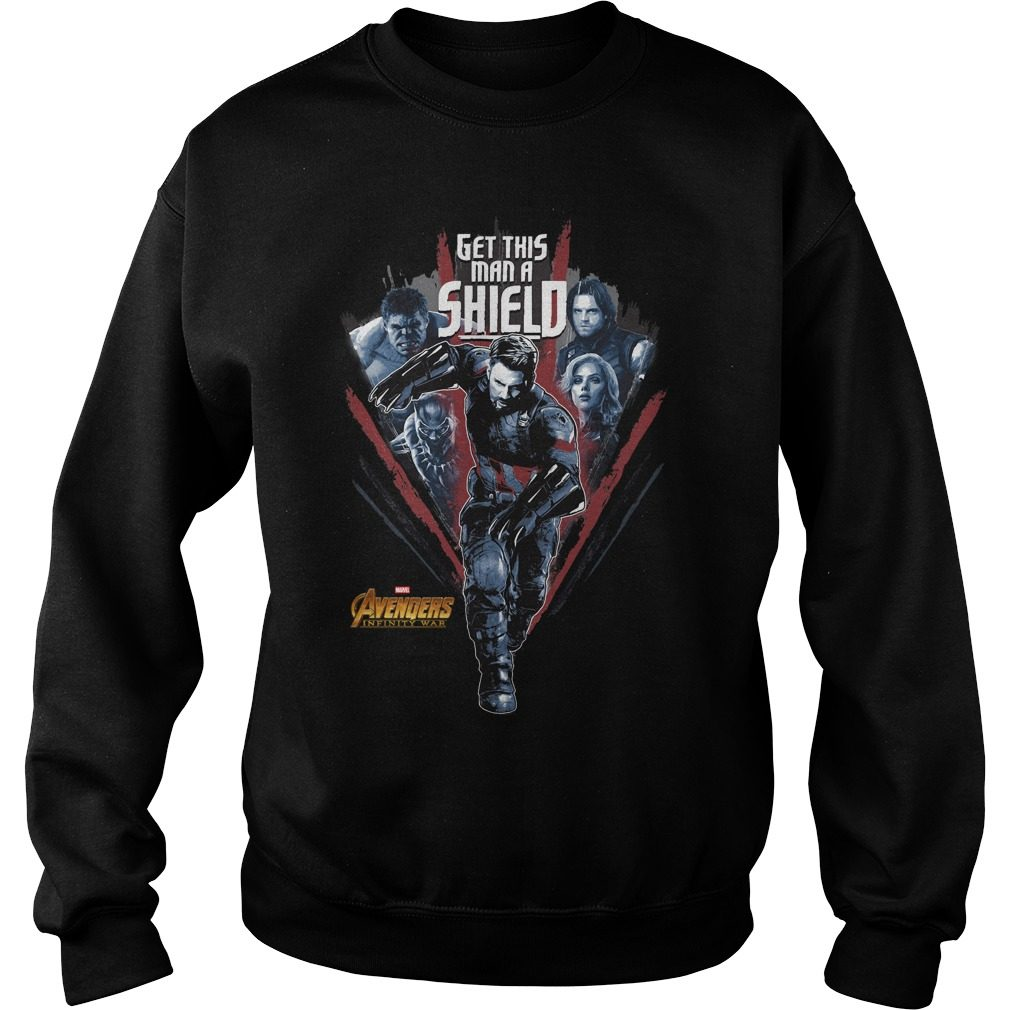 Avengers Infinity War Get Man Shield Sweater