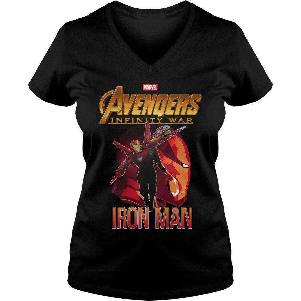 Avengers Infinity War Iron Man V Neck T Shirt