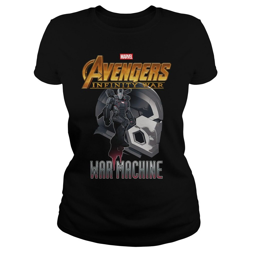 Avengers Infinity War Iron Man War Machine Ladies Tee