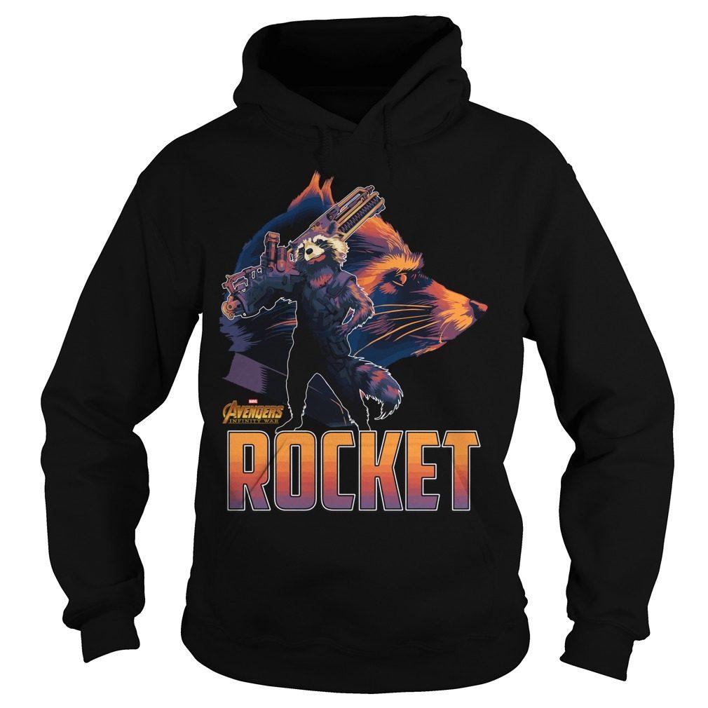 Avengers Infinity War Rocket Hoodie