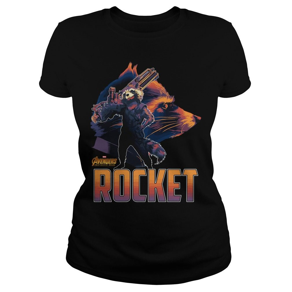 Avengers Infinity War Rocket Ladies Tee