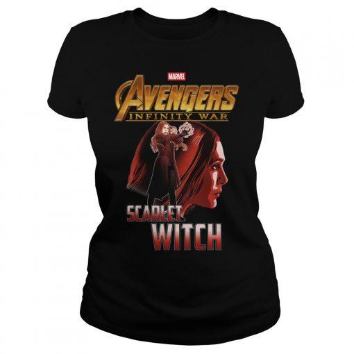 Avengers Infinity War Scarlet Witch Ladies Tee