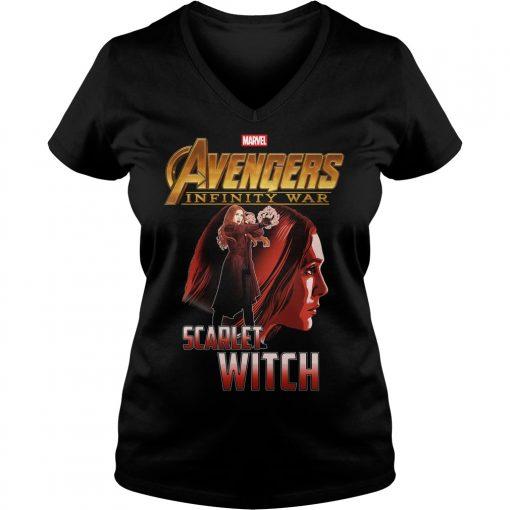 Avengers Infinity War Scarlet Witch V Neck T Shirt