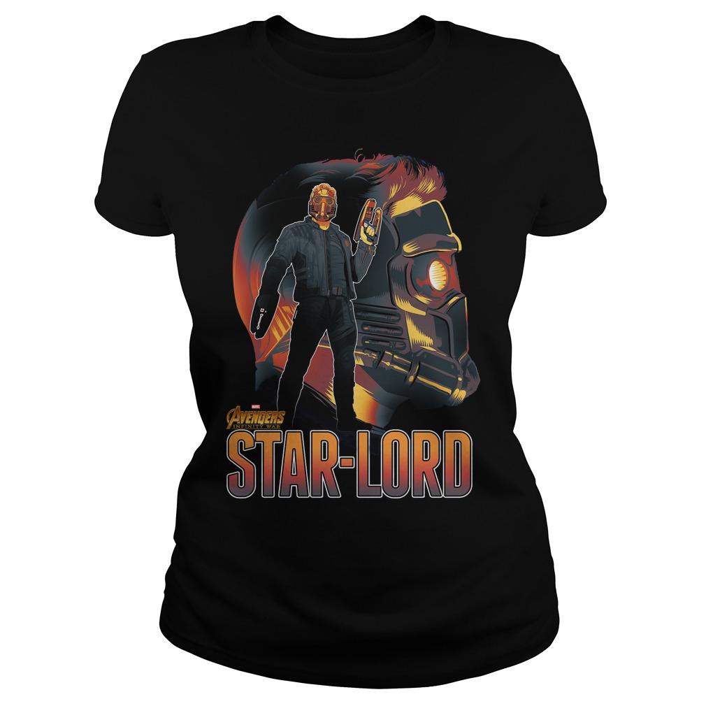 Avengers Infinity War Star Lord Ladies Tee