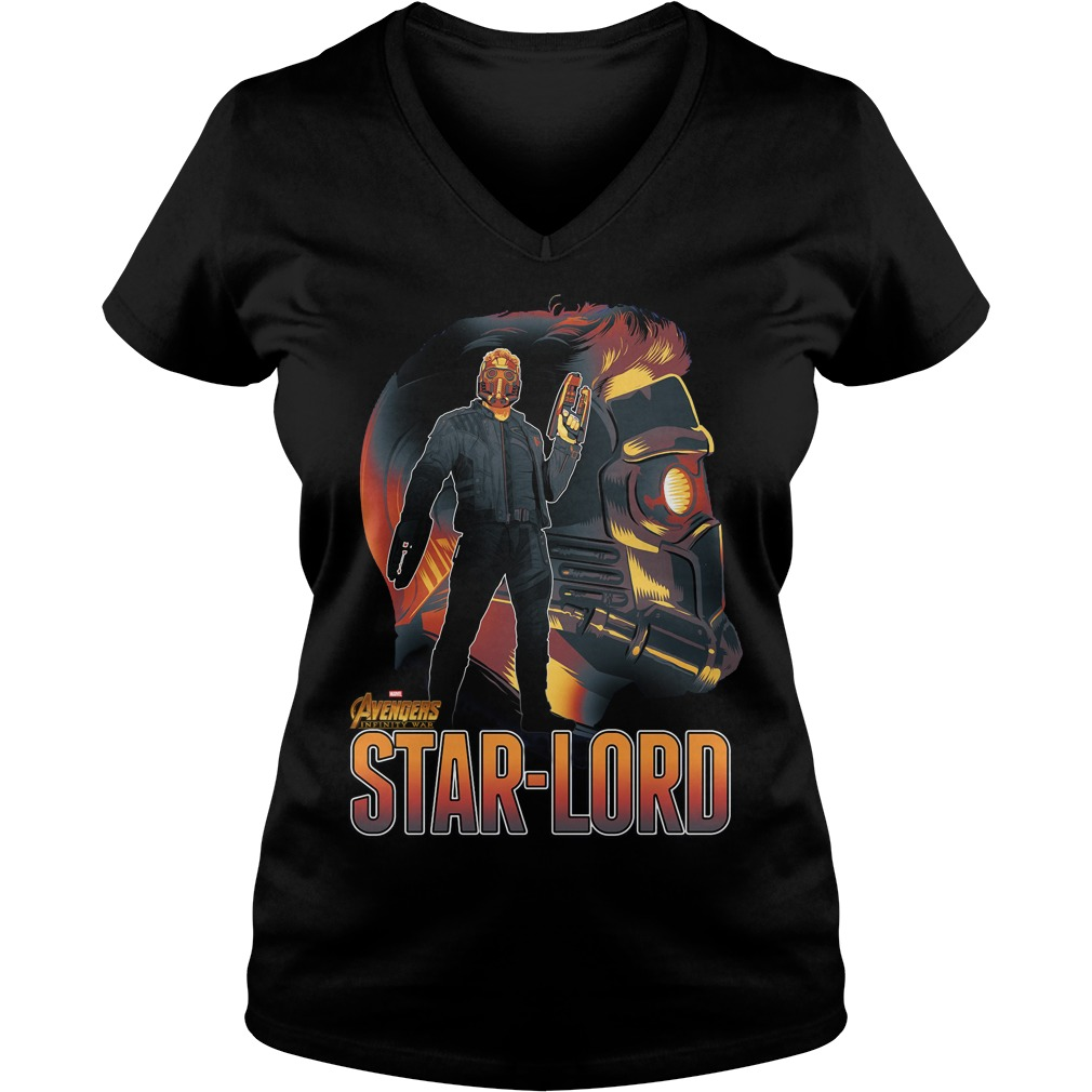 Avengers Infinity War Star Lord V Neck T Shirt
