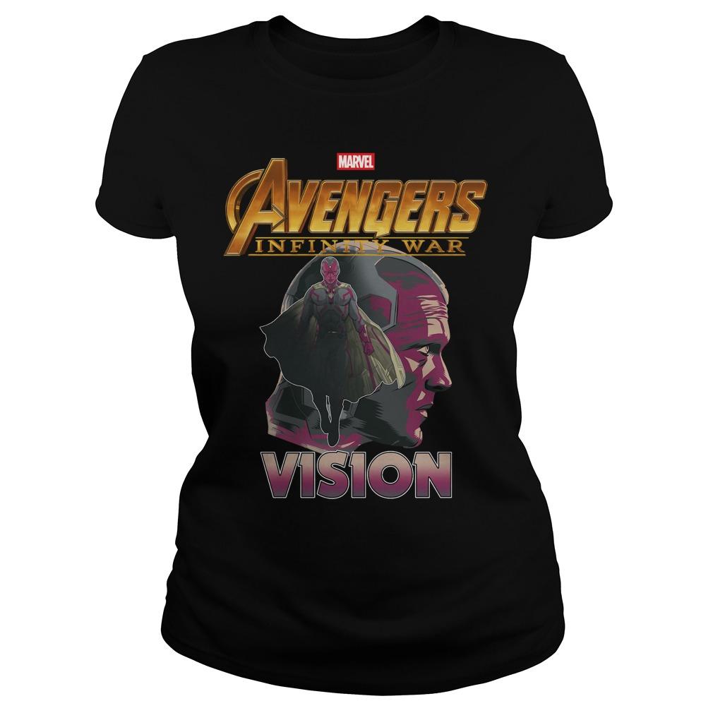 Avengers Infinity War Vision Ladies Tee