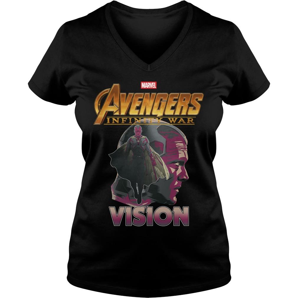 Avengers Infinity War Vision V Neck T Shirt