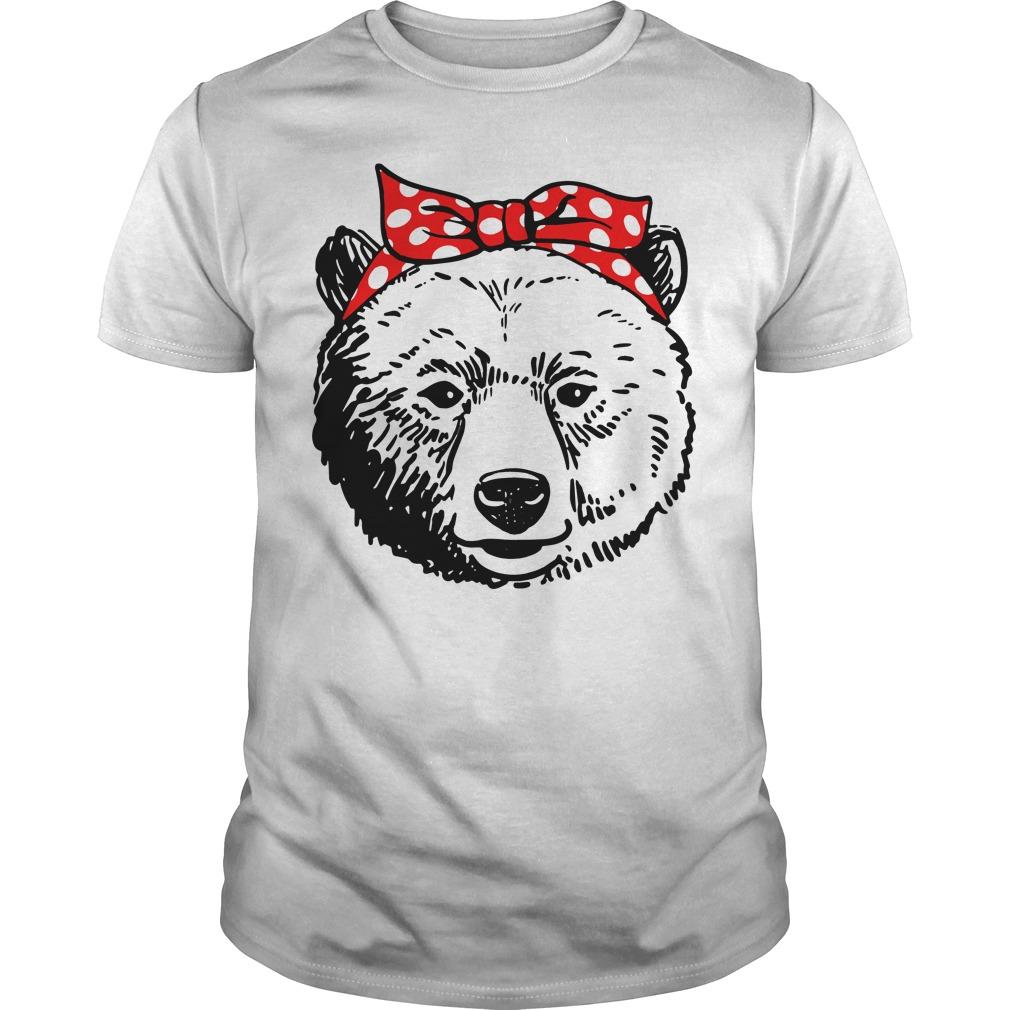 Bear Head Bow Guys Shirt