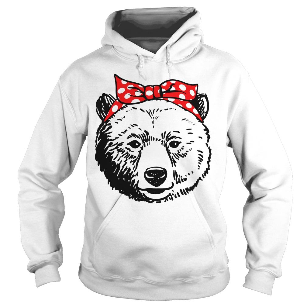 Bear Head Bow Hoodie