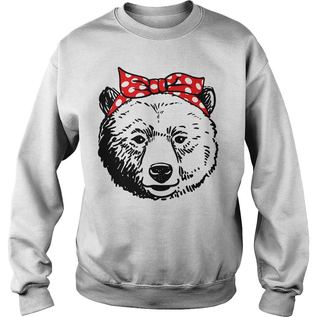 Bear Head Bow Sweater