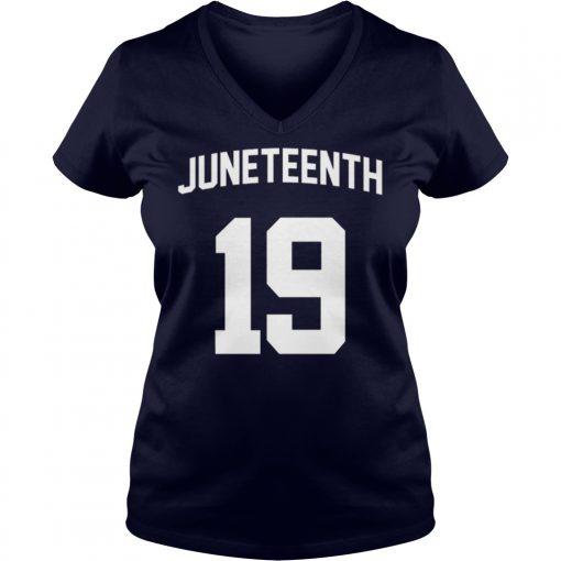Black History Juneteenth 19 V Neck T Shirt