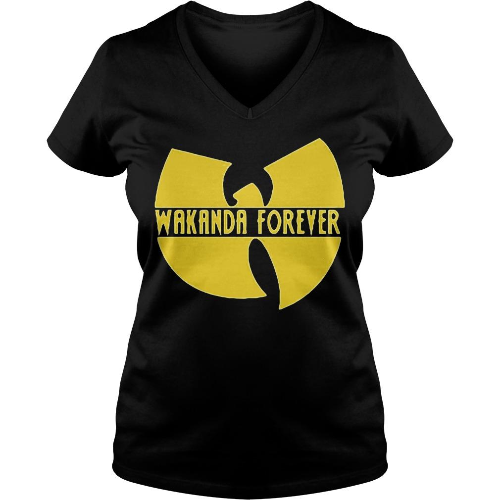 Black Panther Marvel Wakanda Forever V Neck T Shirt
