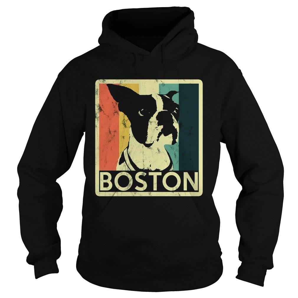 Boston Terrier Vintage Style Distressed Hoodie