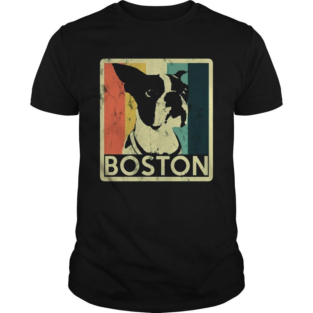 Boston Terrier Vintage Style Distressed Shirt