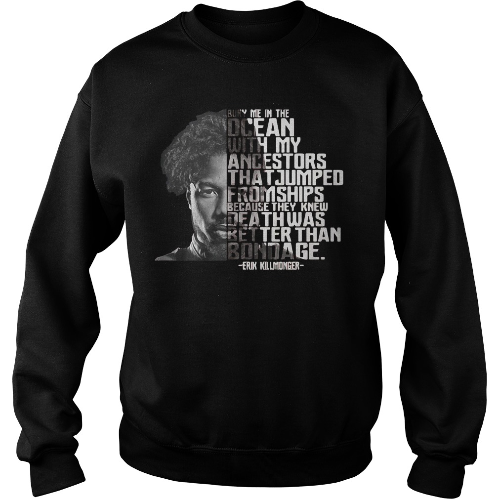 Bury Ocean Ancestors Erik Killmonger Black Panther Sweater