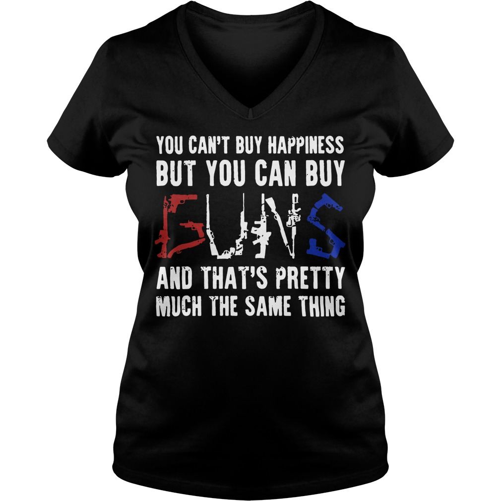 Cant Buy Happiness Can Buy Buns V Neck T Shirt