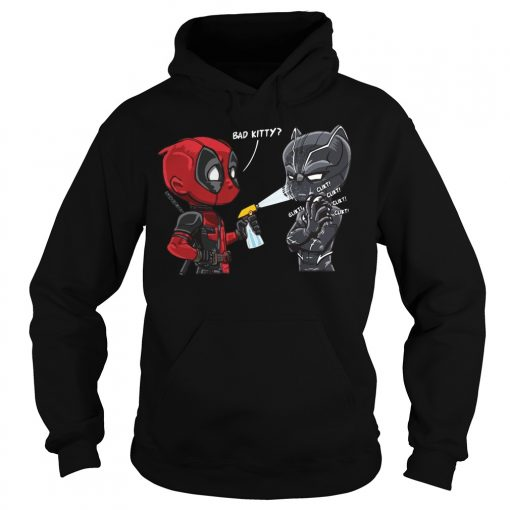 Deadpool Black Panther Bad Kitty Hoodie