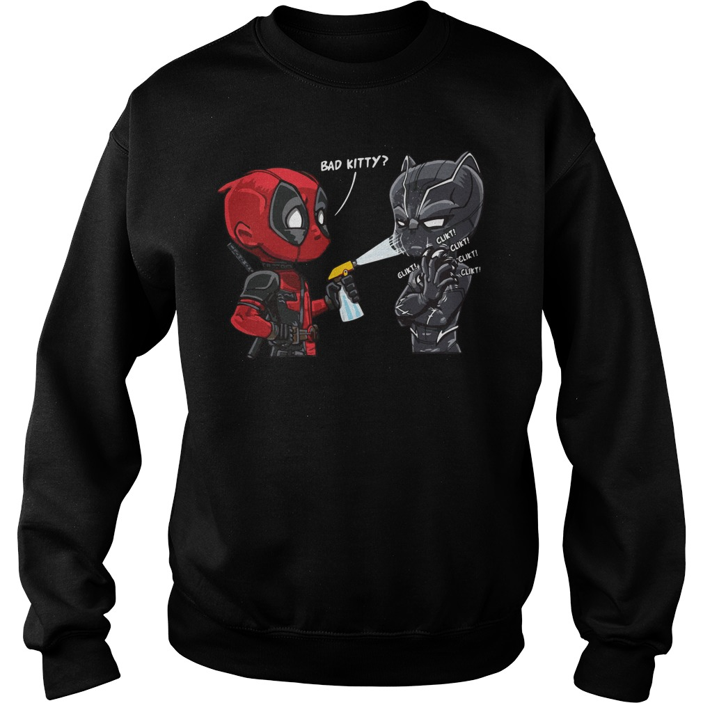 Deadpool Black Panther Bad Kitty Sweater