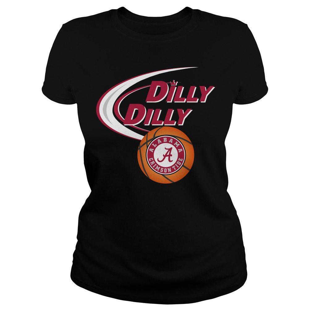 Dilly Dilly Alabama Crimson Tide Ncaa Basketball Ladies Tee