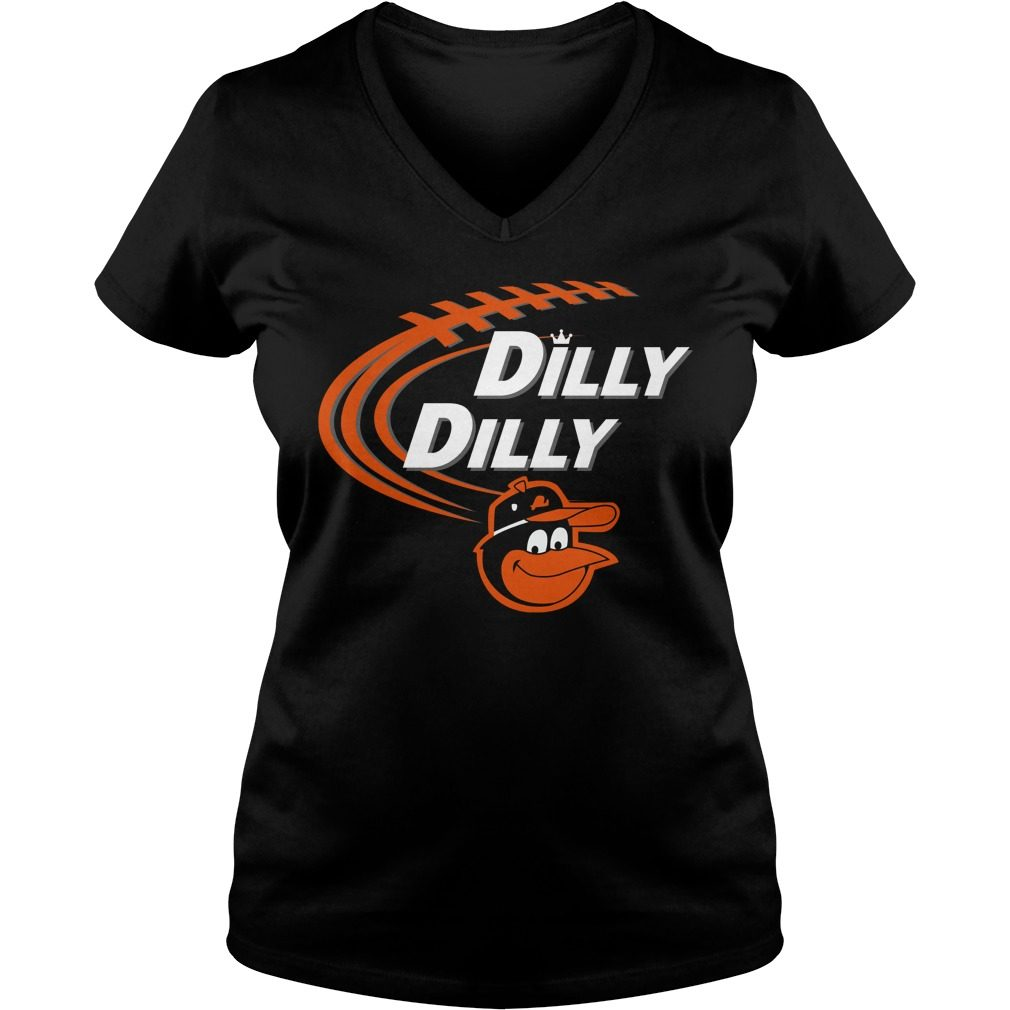 Dilly Dilly Baltimore Orioles Bud Light Mlb Baseball V Neck T Shirt