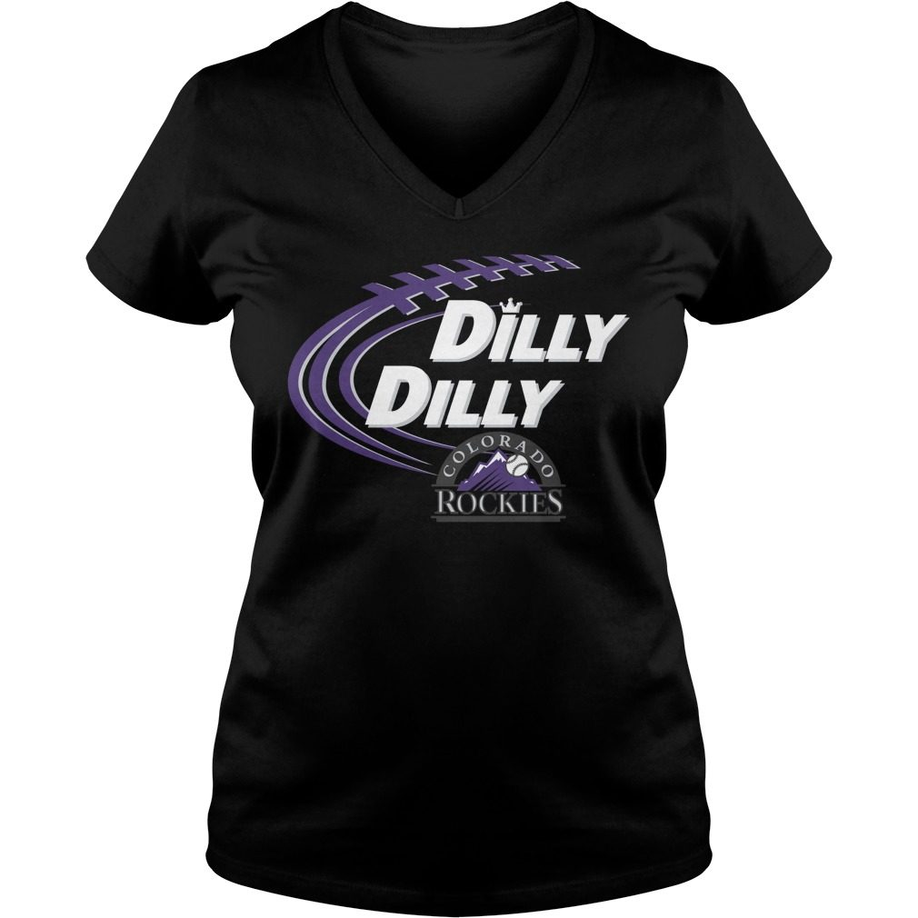 Dilly Dilly Colorado Rockies Bud Light Mlb Baseball V Neck T Shirt