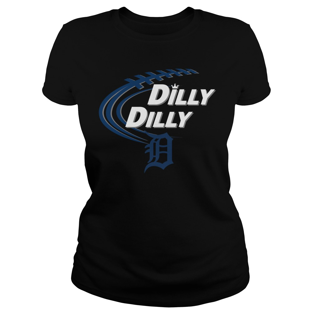 Dilly Dilly Detroit Tigers Bud Light Mlb Baseball Ladies Tee