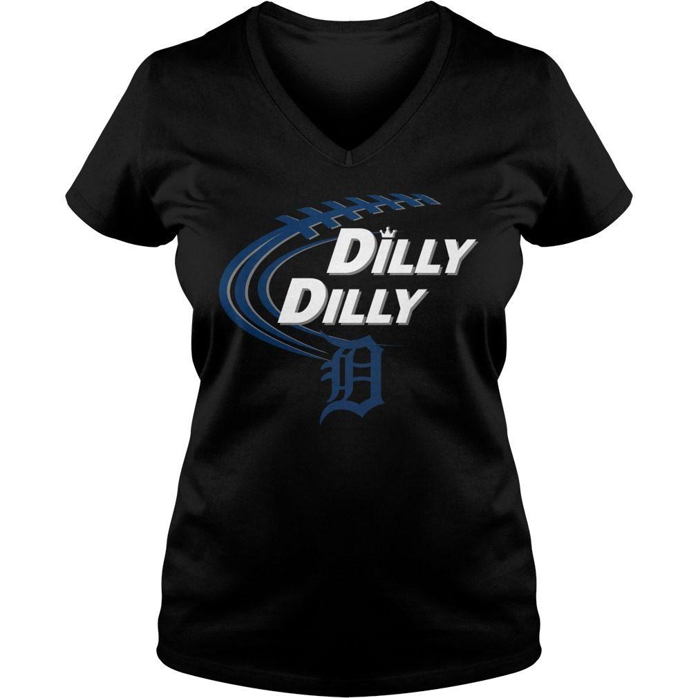 Dilly Dilly Detroit Tigers Bud Light Mlb Baseball V Neck T Shirt