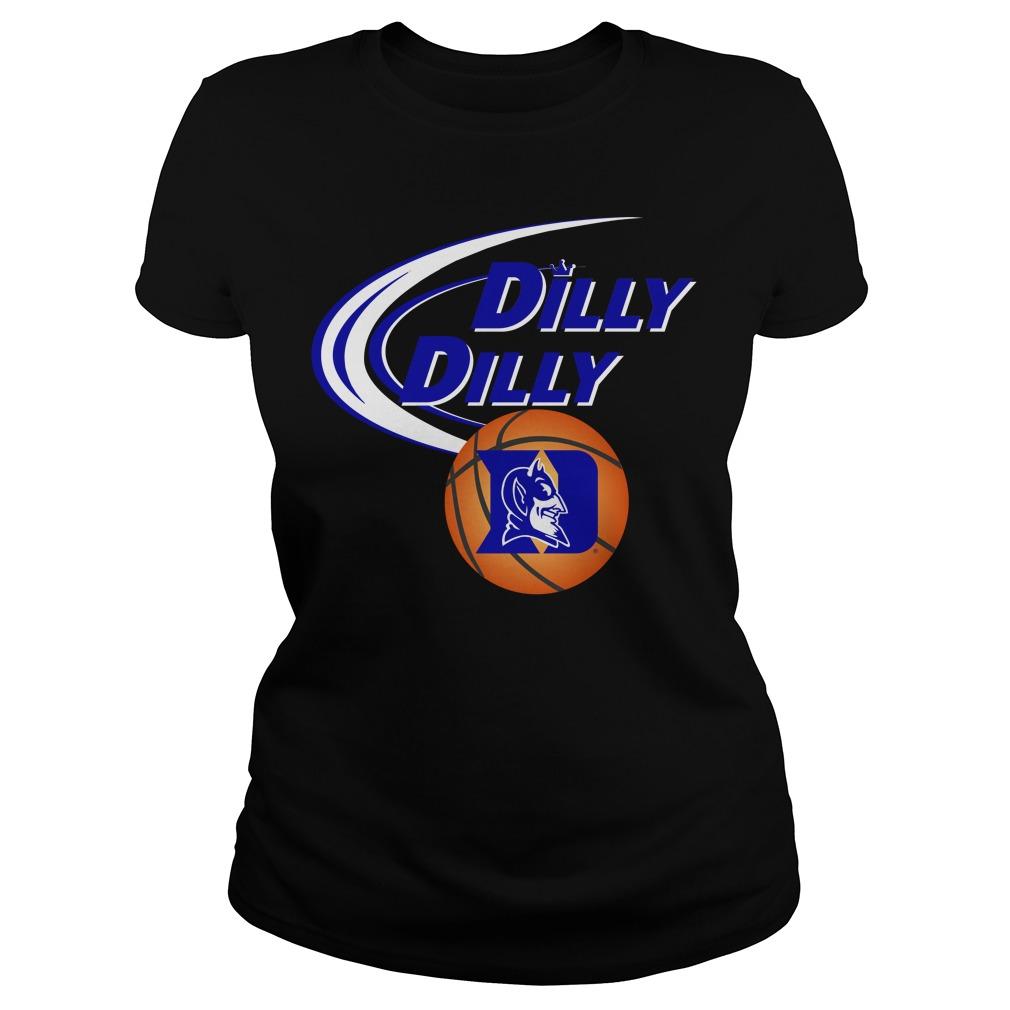 Dilly Dilly Duke Ncaa Basketball Ladies Tee