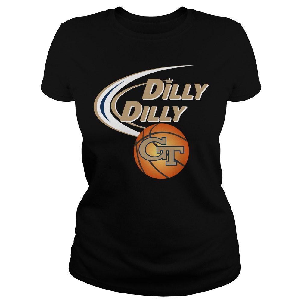 Dilly Dilly Georgia Tech Ncaa Basketball Ladies Tee