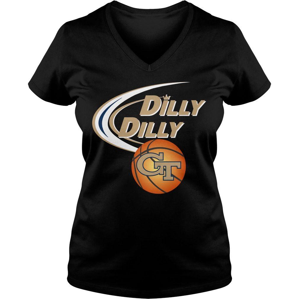 Dilly Dilly Georgia Tech Ncaa Basketball V Neck T Shirt
