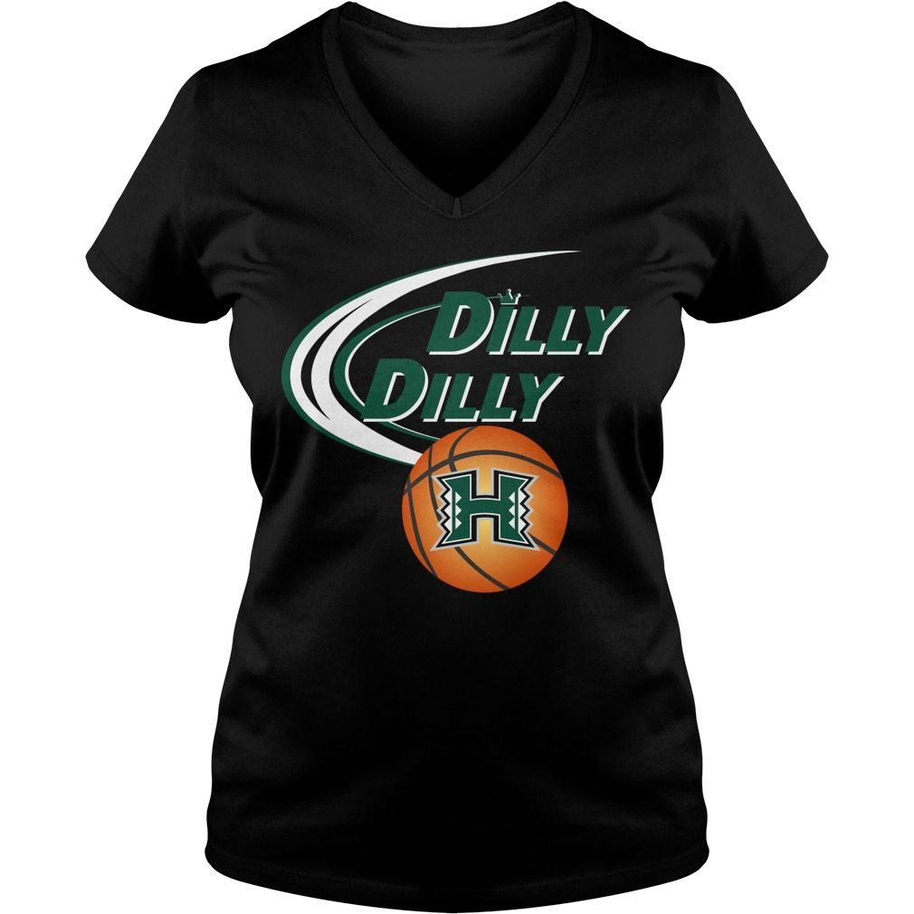 Dilly Dilly Hawaii Ncaa Basketball V Neck T Shirt