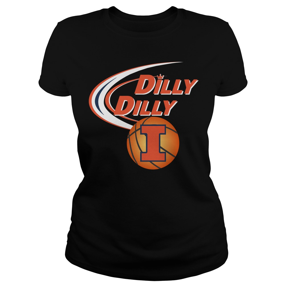 Dilly Dilly Illinois Ncaa Basketball Ladies Tee