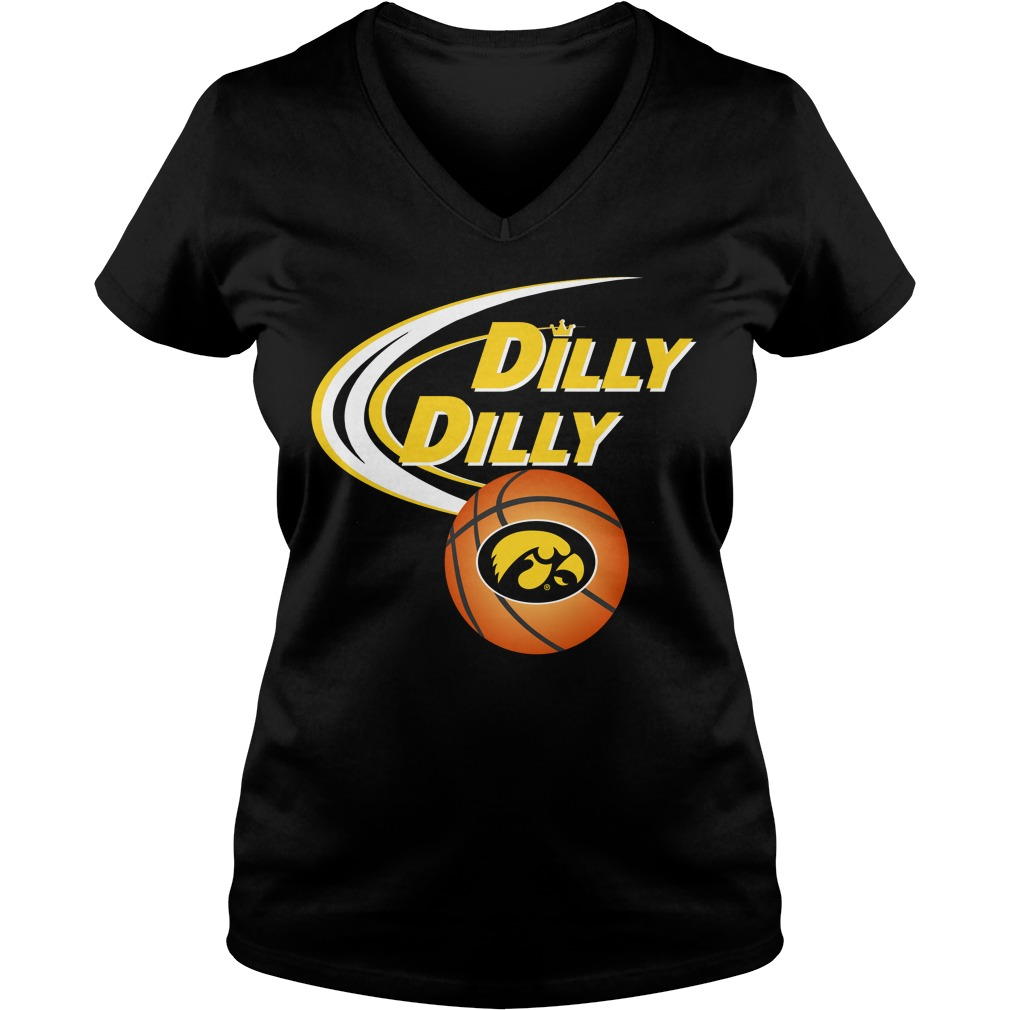 Dilly Dilly Iowa Hawkeyes Ncaa Basketball V Neck T Shirt