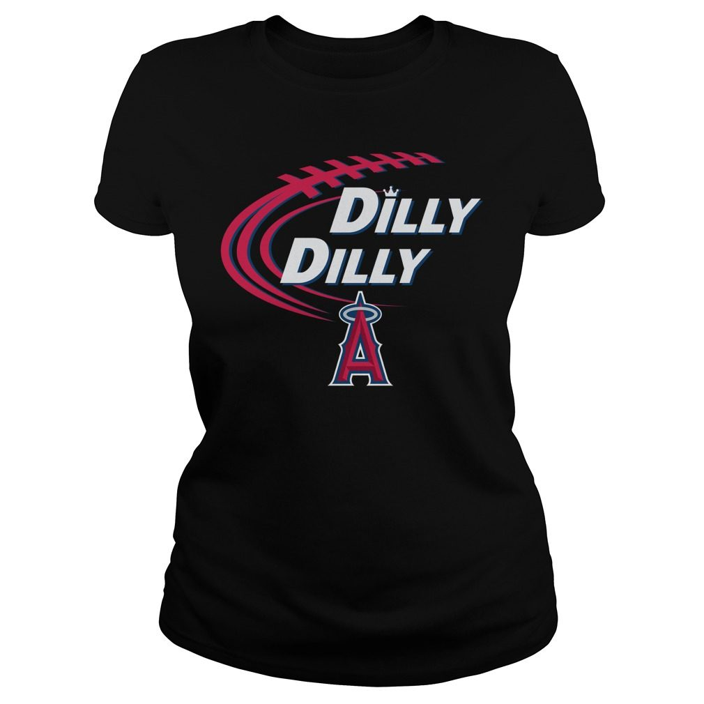 Dilly Dilly Los Angeles Angels Bud Light Mlb Baseball Ladies Tee