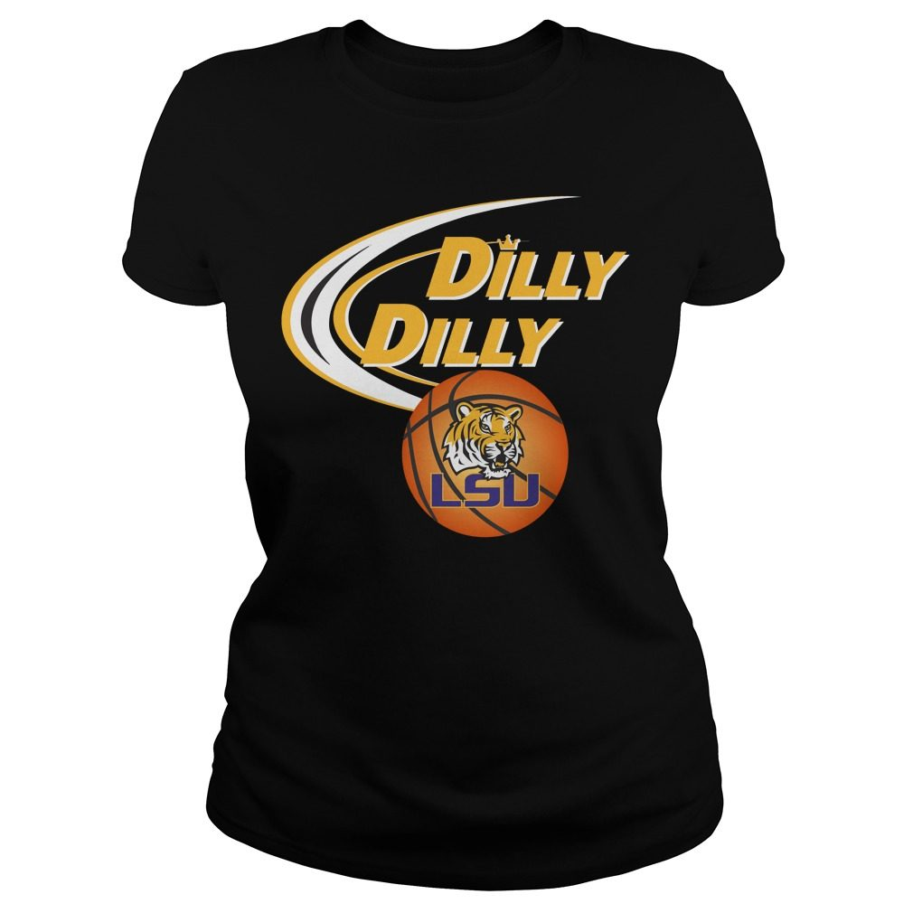 Dilly Dilly Louisiana State University Ncaa Basketball Ladies Tee