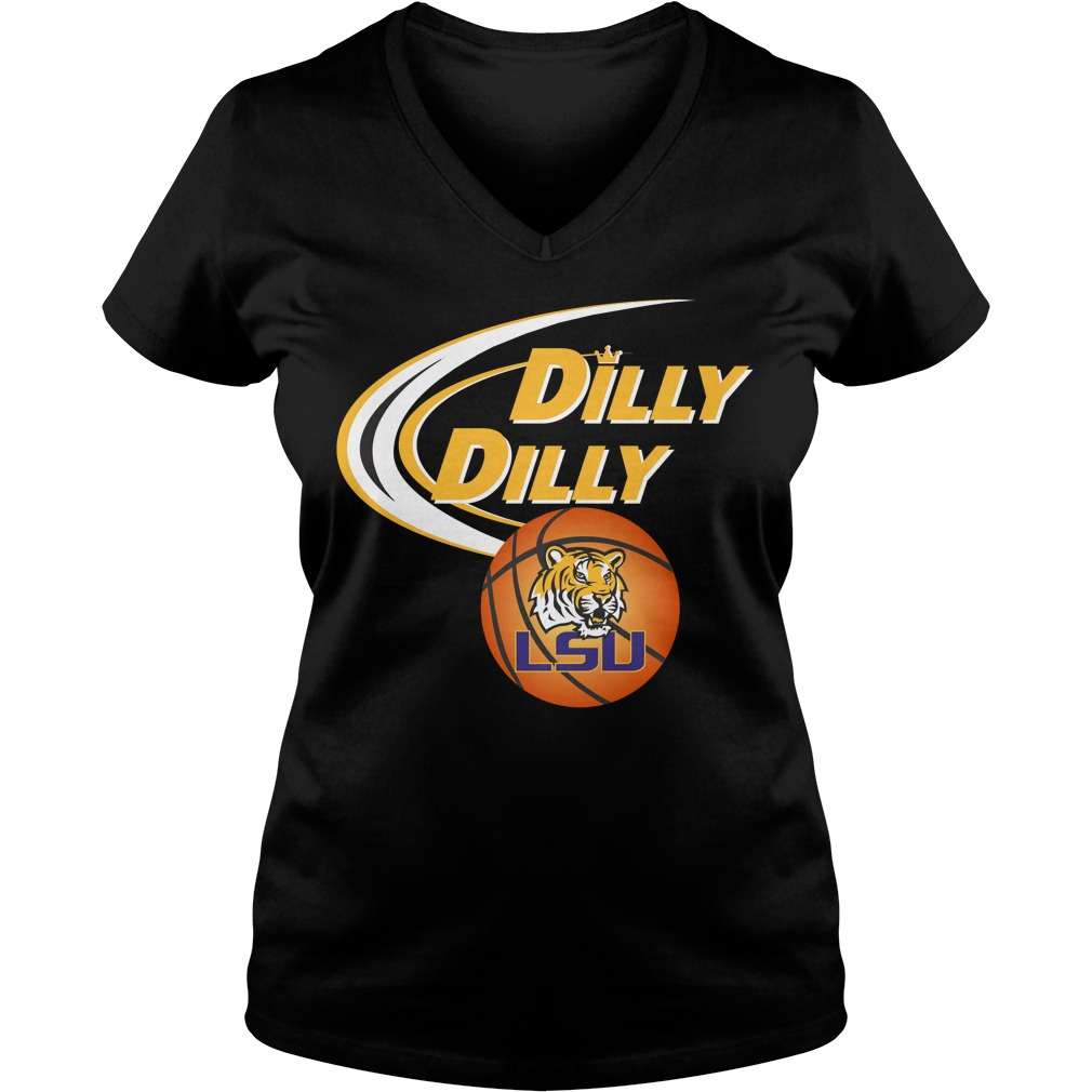 Dilly Dilly Louisiana State University Ncaa Basketball V Neck T Shirt