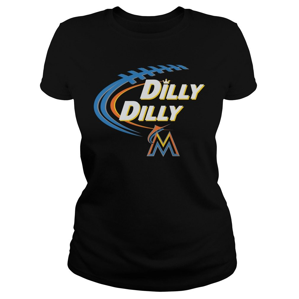 Dilly Dilly Miami Marlins Bud Light Mlb Baseball Ladies Tee