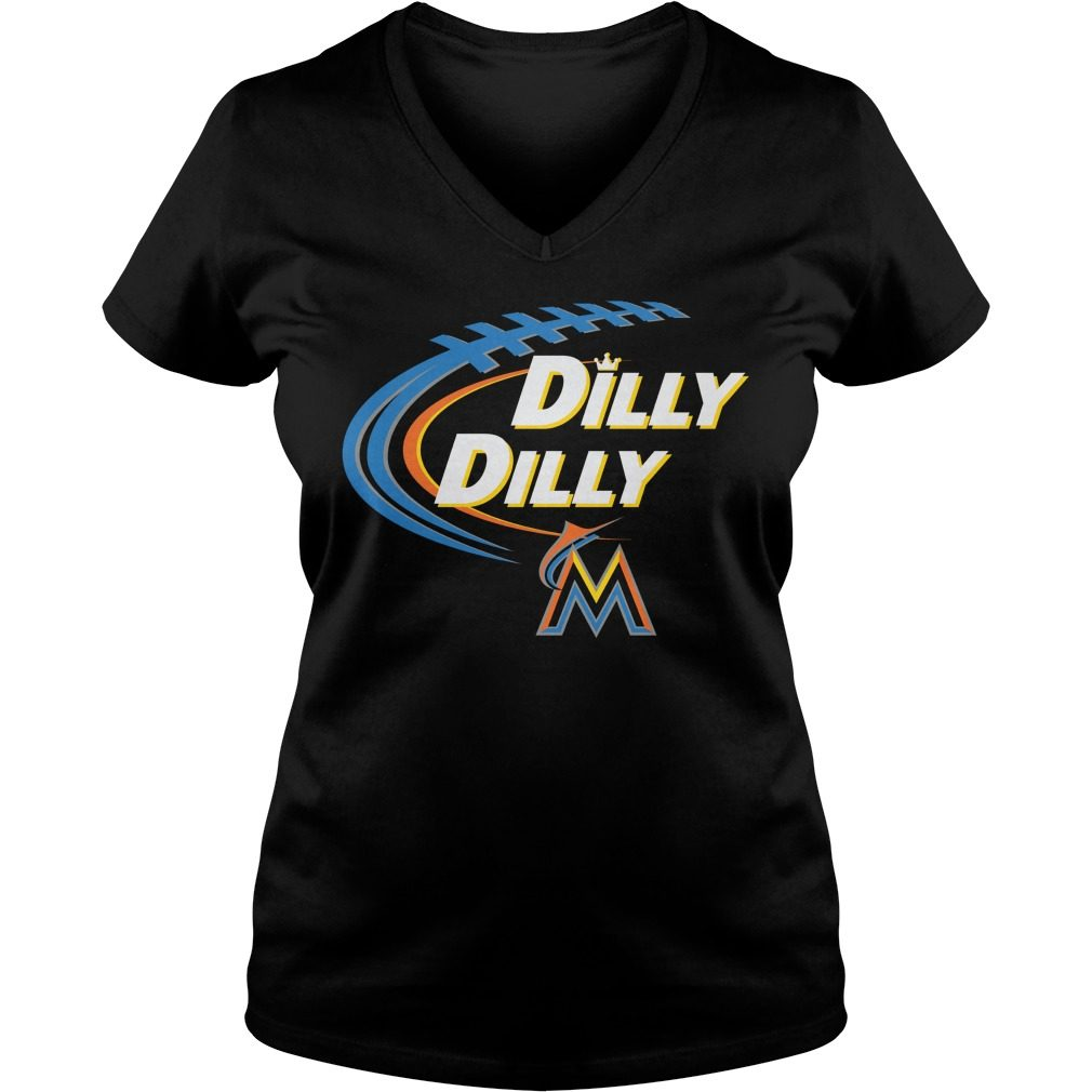 Dilly Dilly Miami Marlins Bud Light Mlb Baseball V Neck T Shirt
