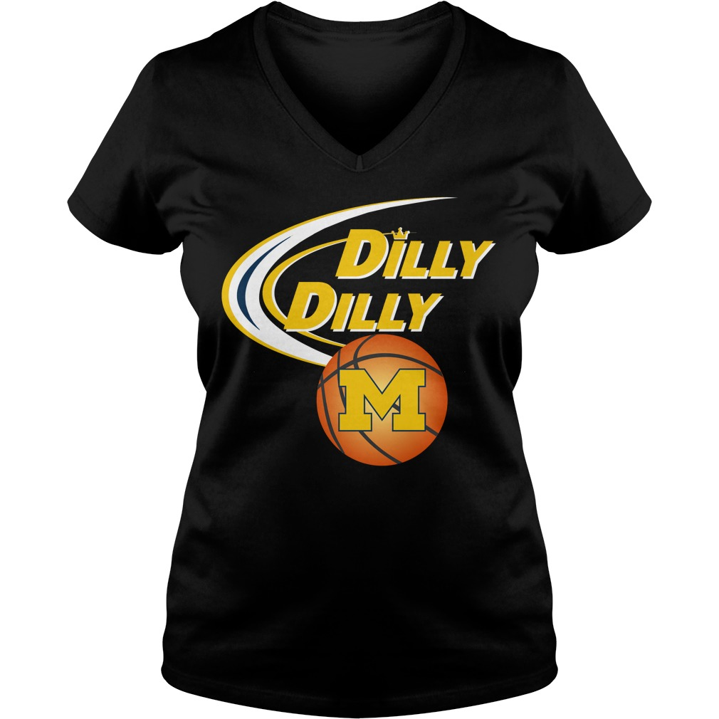 Dilly Dilly Michigan Ncaa Basketball V Neck T Shirt