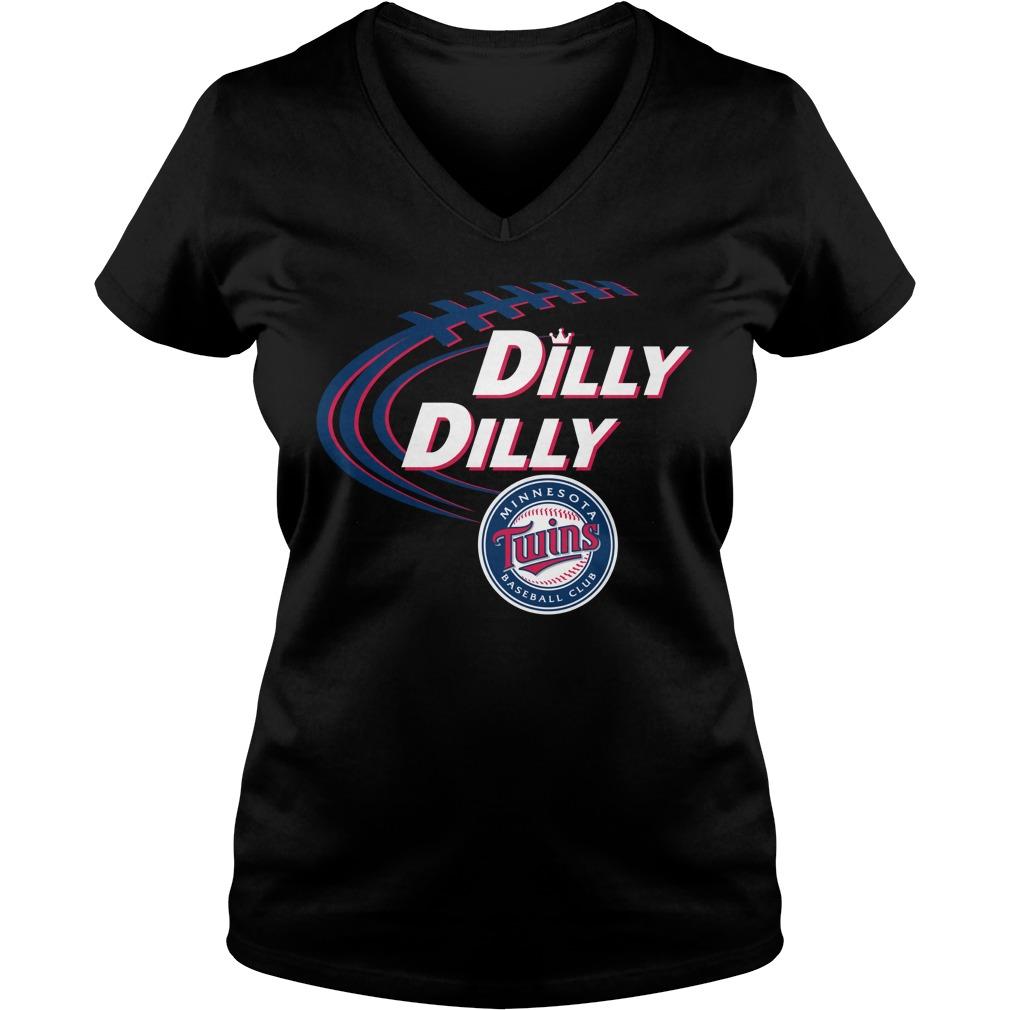 Dilly Dilly Minnesota Twins Bud Light Mlb Baseball V Neck T Shirt