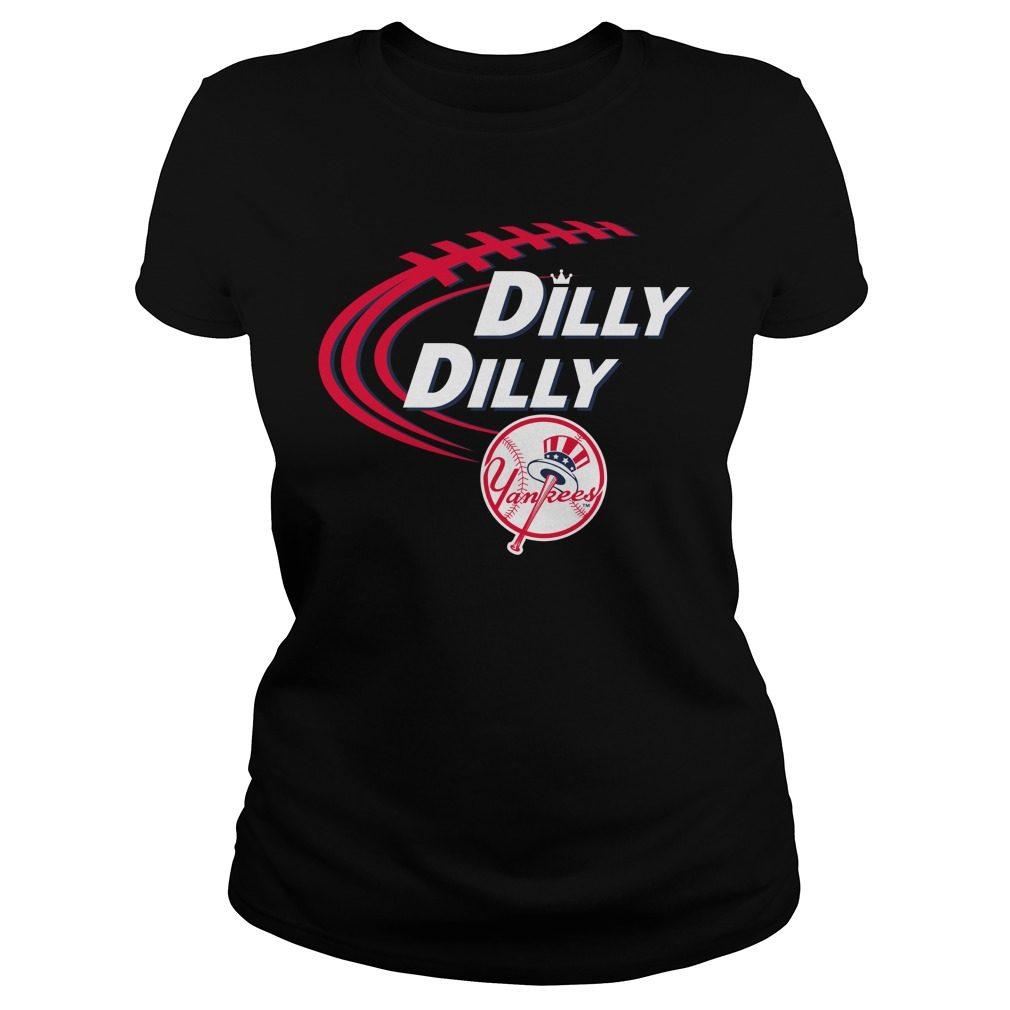 Dilly Dilly New York Yankees Bud Light Mlb Baseball Ladies Tee