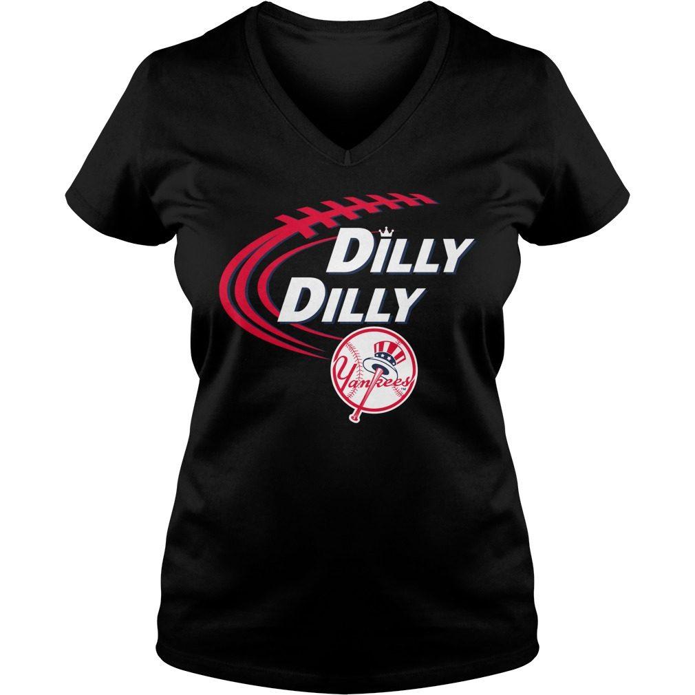 Dilly Dilly New York Yankees Bud Light Mlb Baseball V Neck T Shirt