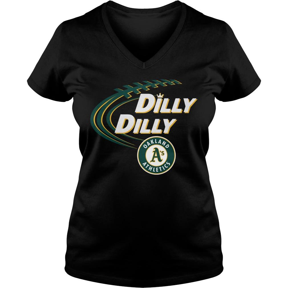 Dilly Dilly Oakland Athletics Bud Light Mlb Baseball V Neck T Shirt