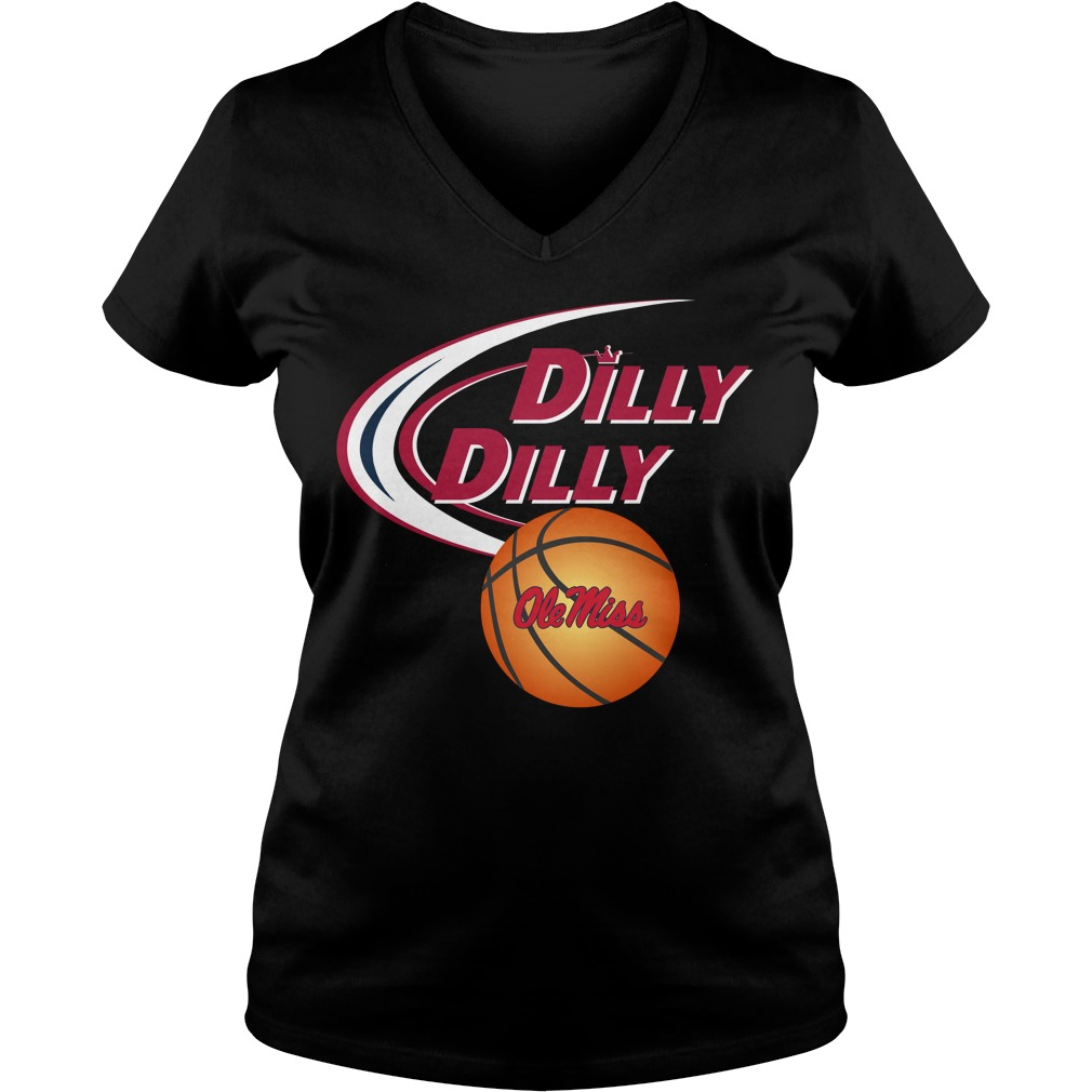 Dilly Dilly Ole Miss Rebels Ncaa Basketball V Neck T Shirt