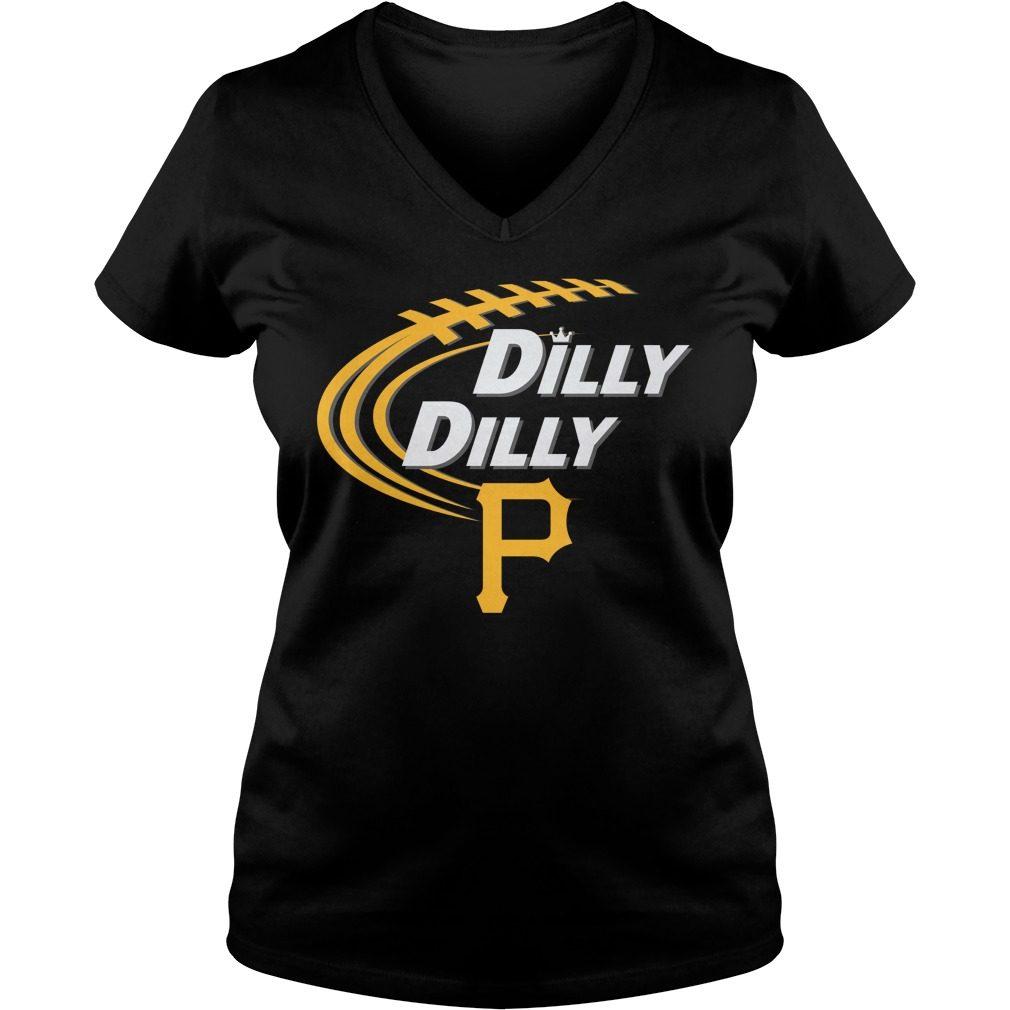 Dilly Dilly Pittsburgh Pirates Bud Light Mlb Baseball V Neck T Shirt