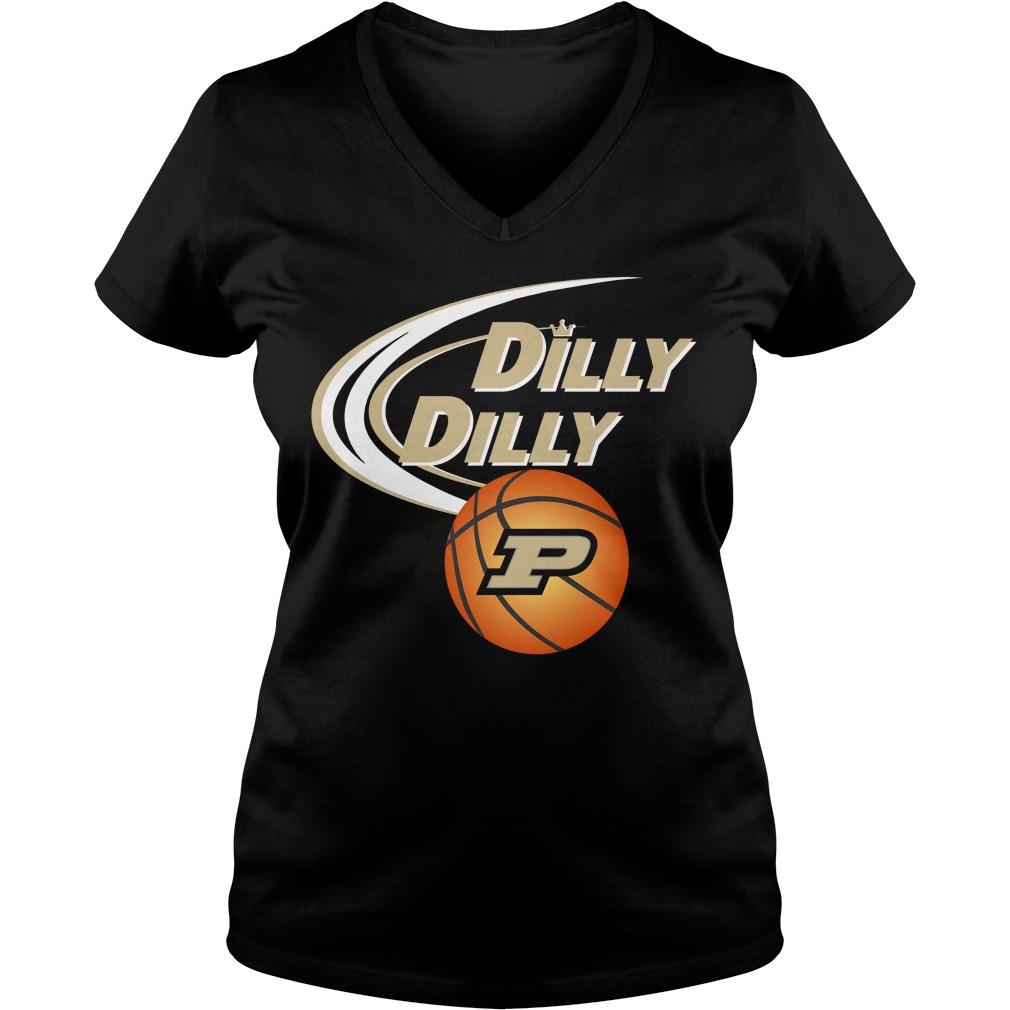 Dilly Dilly Purdue Ncaa Basketball V Neck T Shirt