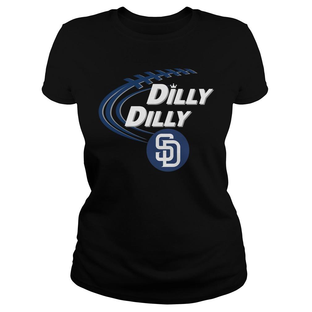 Dilly Dilly San Diego Padres Bud Light Mlb Baseball Ladies Tee