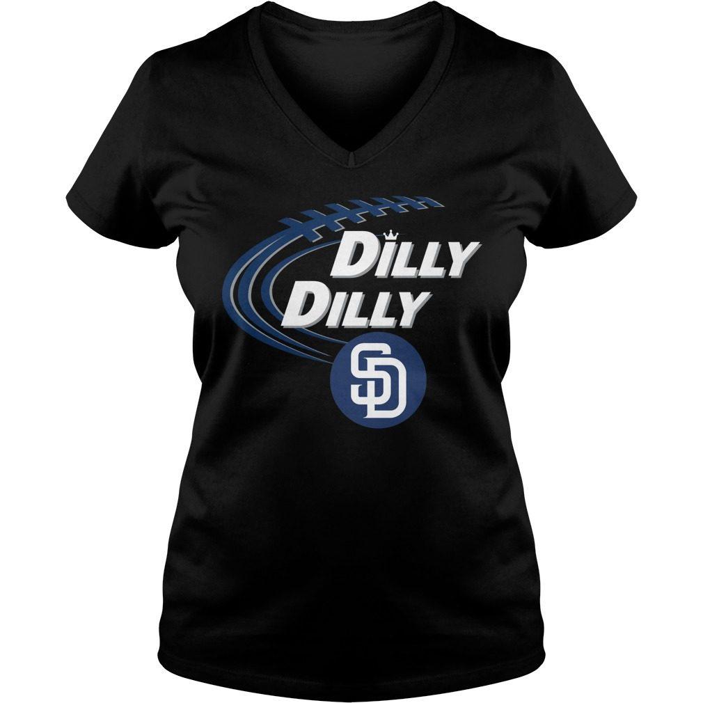 Dilly Dilly San Diego Padres Bud Light Mlb Baseball V Neck T Shirt