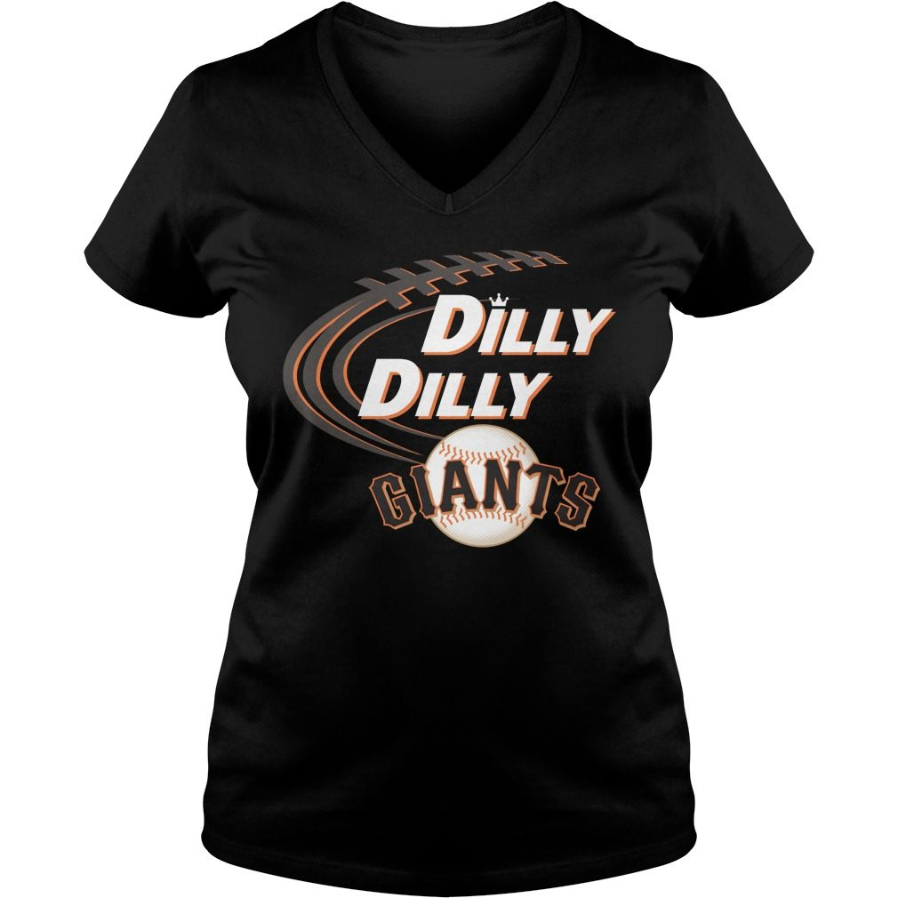 Dilly Dilly San Francisco Giants Bud Light Mlb Baseball V Neck T Shirt