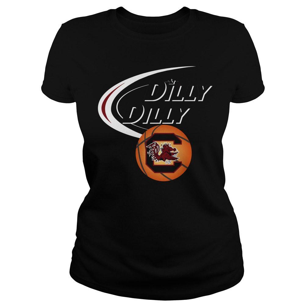 Dilly Dilly South Carolina Ncaa Basketball Ladies Tee